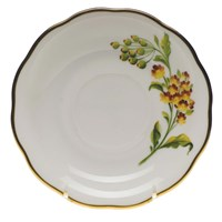 Herend American Wildflowers Butterfly Weed Tea Saucer