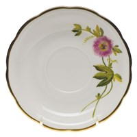Herend American Wildflowers Passion Flower Tea Saucer