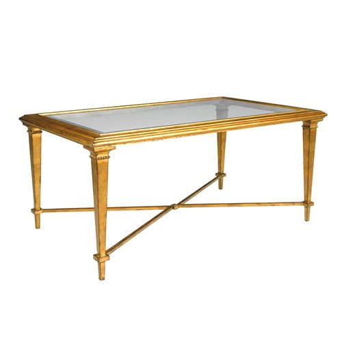 Bristol Rectangle Coffee Table, Gold Leaf