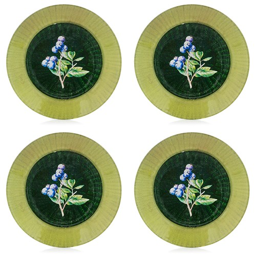 Berry Decoupage Dessert Plate, Set of 4