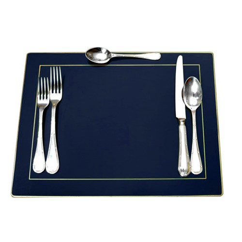 Continental Placemat Blue, Set of 4