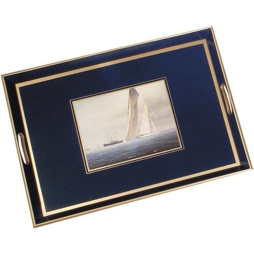 America's Cup Glassbase Tray, Large