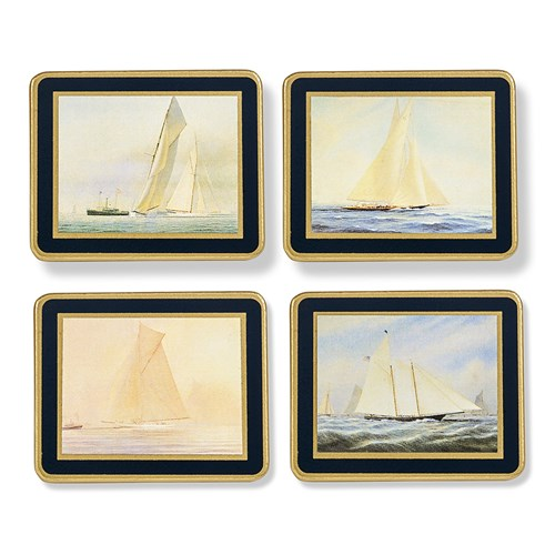 America's Cup Coasters Oxford Blue, Set of 4