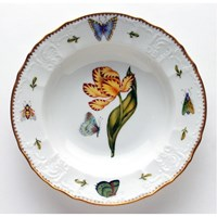 Anna Weatherley Old Master Tulips Rim Soup Bowl, Yellow & Red