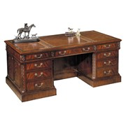 Mahogany and Oak Executive Desk