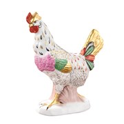 Porcelain Hen with Gold Crown