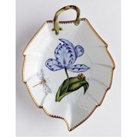 Anna Weatherley Old Master Tulips Leaf Dish, Blue & Purple
