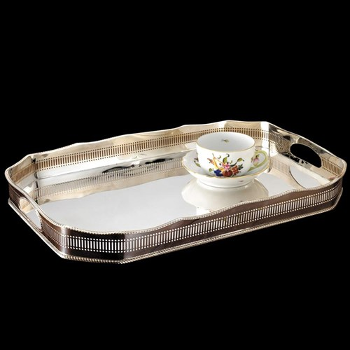 Silverplated Octagonal Tray
