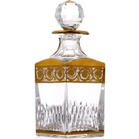 St. Louis Thistle Gold Square Decanter
