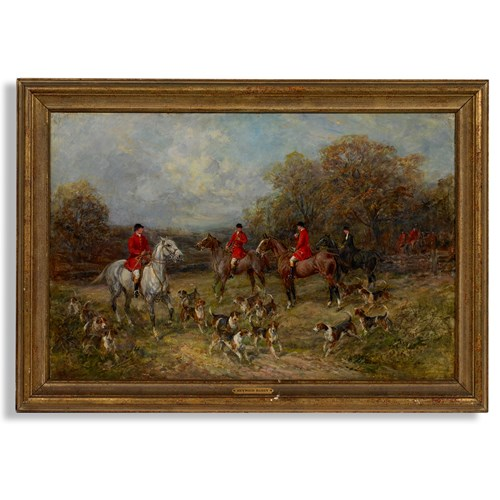 "Heywood Hardy ""The Fox Hunt"" Painting"