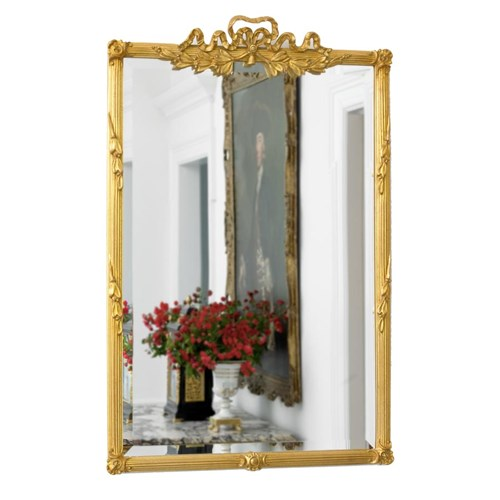 Bow Top Mirror Antique Gold