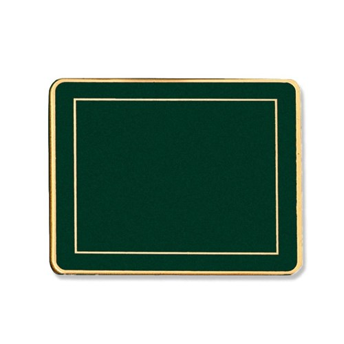 Rectangular Coaster Green, Set of 4