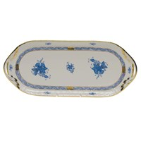 Herend Chinese Bouquet Blue Sandwich Tray