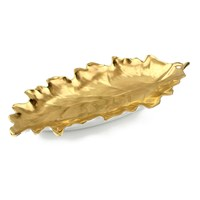 William Yeoward Gold Leaf Dish, Oak