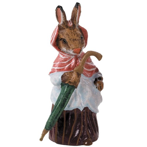 Bronze Old Mrs. Rabbit with Umbrella