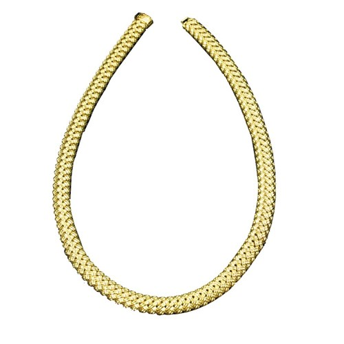 18k Yellow Gold Basketweave Necklace