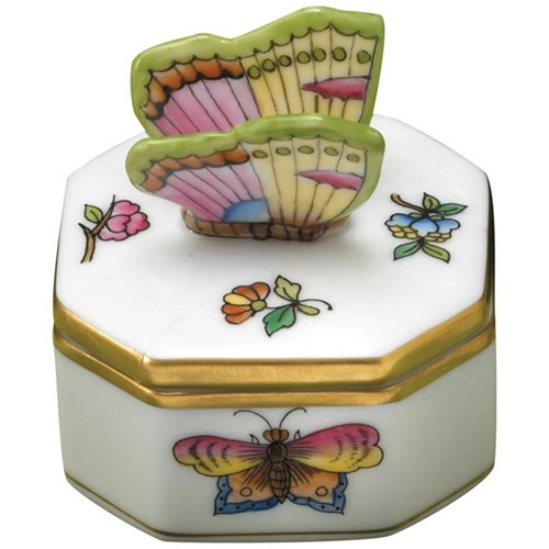 Herend Stephanie Box with Butterfly