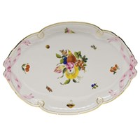 Herend Fruits & Flowers Oval Ribbon Tray