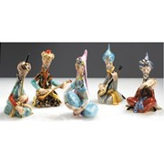 Herend Miniature Persian Playing Flute (Aqua)
