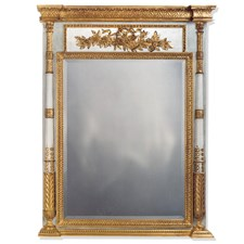 Gilded Age Trumeau Mirror Gold Gray