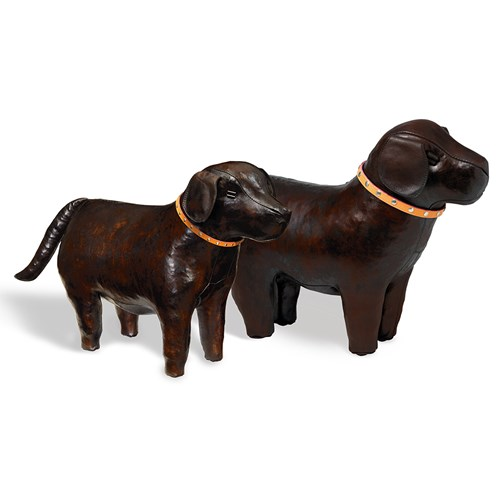 Leather Dog Footstools