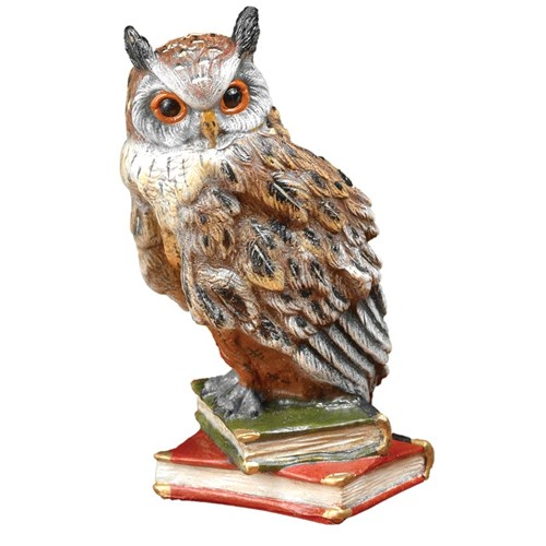 Austrian Bronze Owl on Two Books Figurine