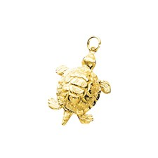 18k Gold Turtle Charm