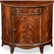 Dark Mahogany Demilune Commode