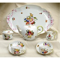 Herend Fruits & Flowers 8-Piece Tea Set