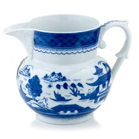 Mottahedeh Blue Canton Pitcher, Large