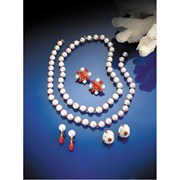 18k Gold Nesting Pearl & Coral Necklaces