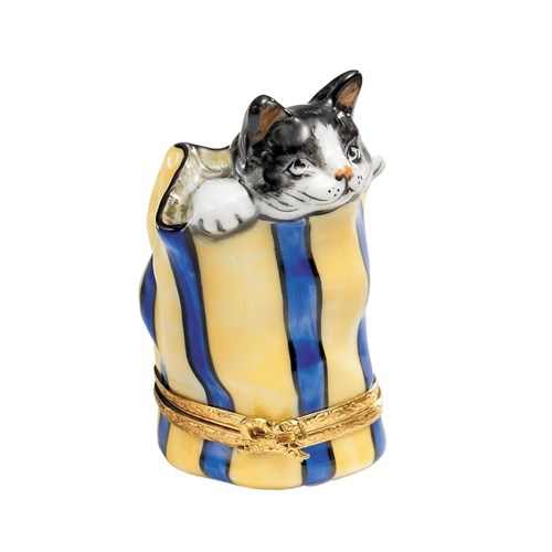 Cat in Bag Limoges Box, Limited Edition