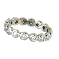 18K Gold Studded Stackable Ring, Diamond