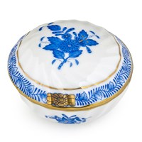 Herend Chinese Bouquet Blue Ring Box