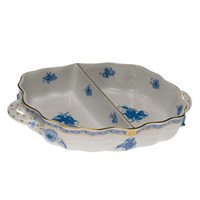Herend Chinese Bouquet Blue Hors d'Oeuvres Dish