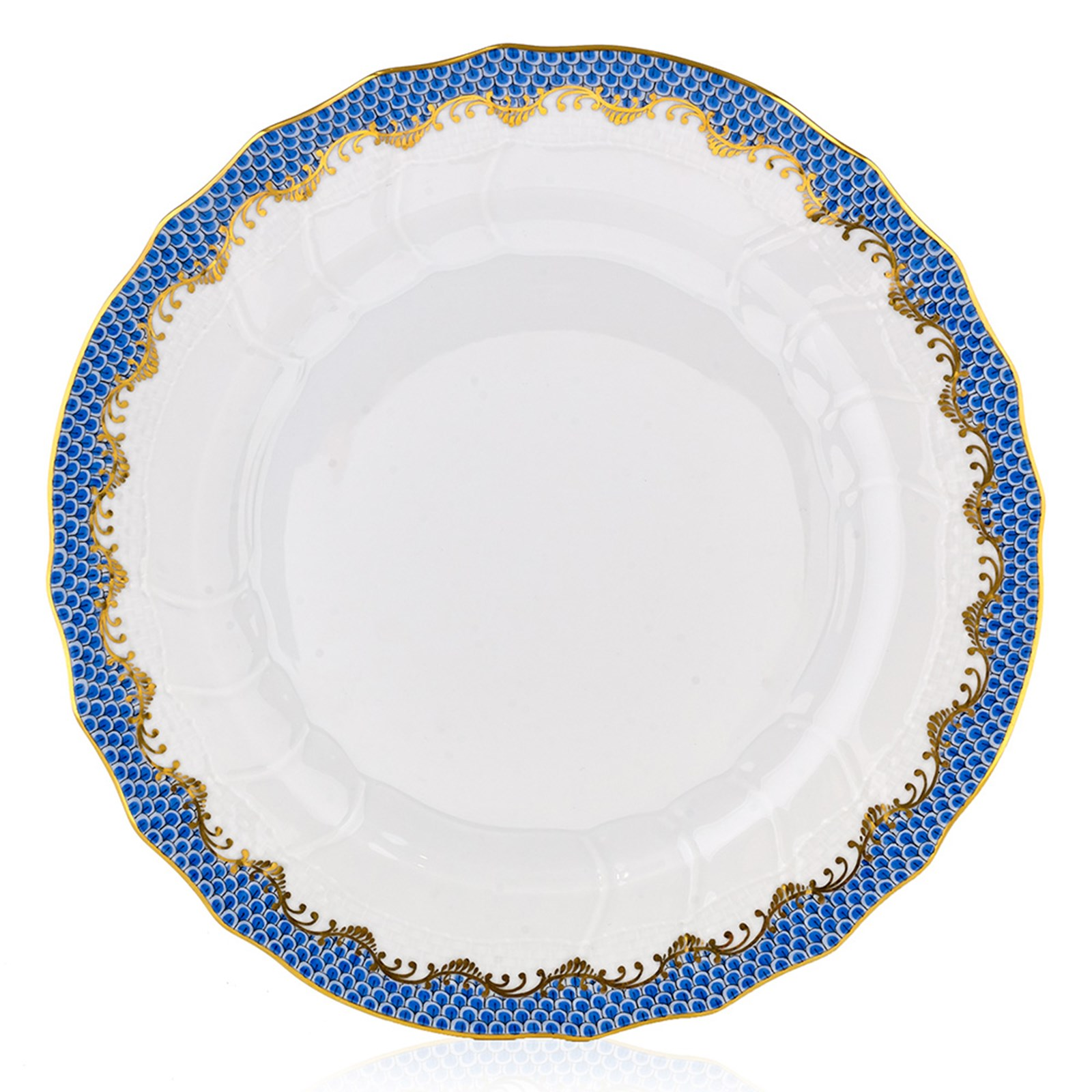 Herend Fish Scale Blue Fish Scale Herend China China Tabletop Scullyandscully Com