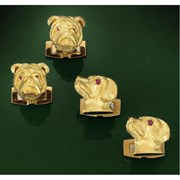 18k Gold Bulldog Cufflinks