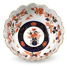 Meissen Cobalt Blue Ribbon Scalloped Bowl, Limited Edition