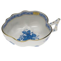 Herend Chinese Bouquet Blue Deep Leaf Dish, Large