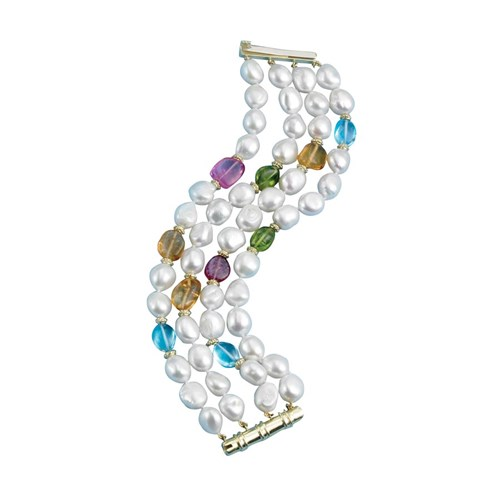 Pearl and Multi Stone Bracelet