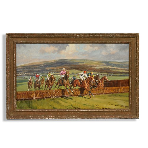 Clearing the First Fence Oil Painting