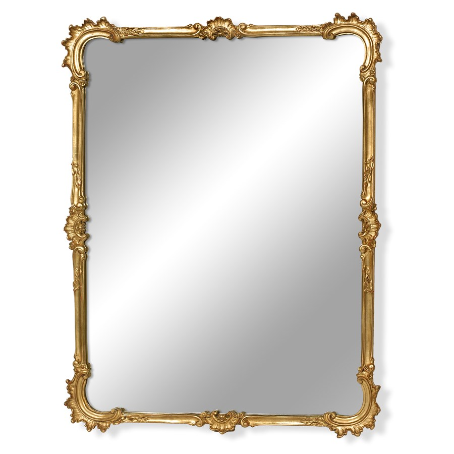 Cscroll Antique Gold Beveled Mirror