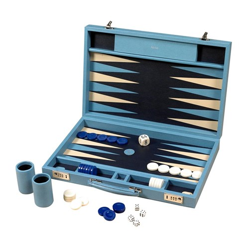 Challenge Backgammon Set, Sky Blue