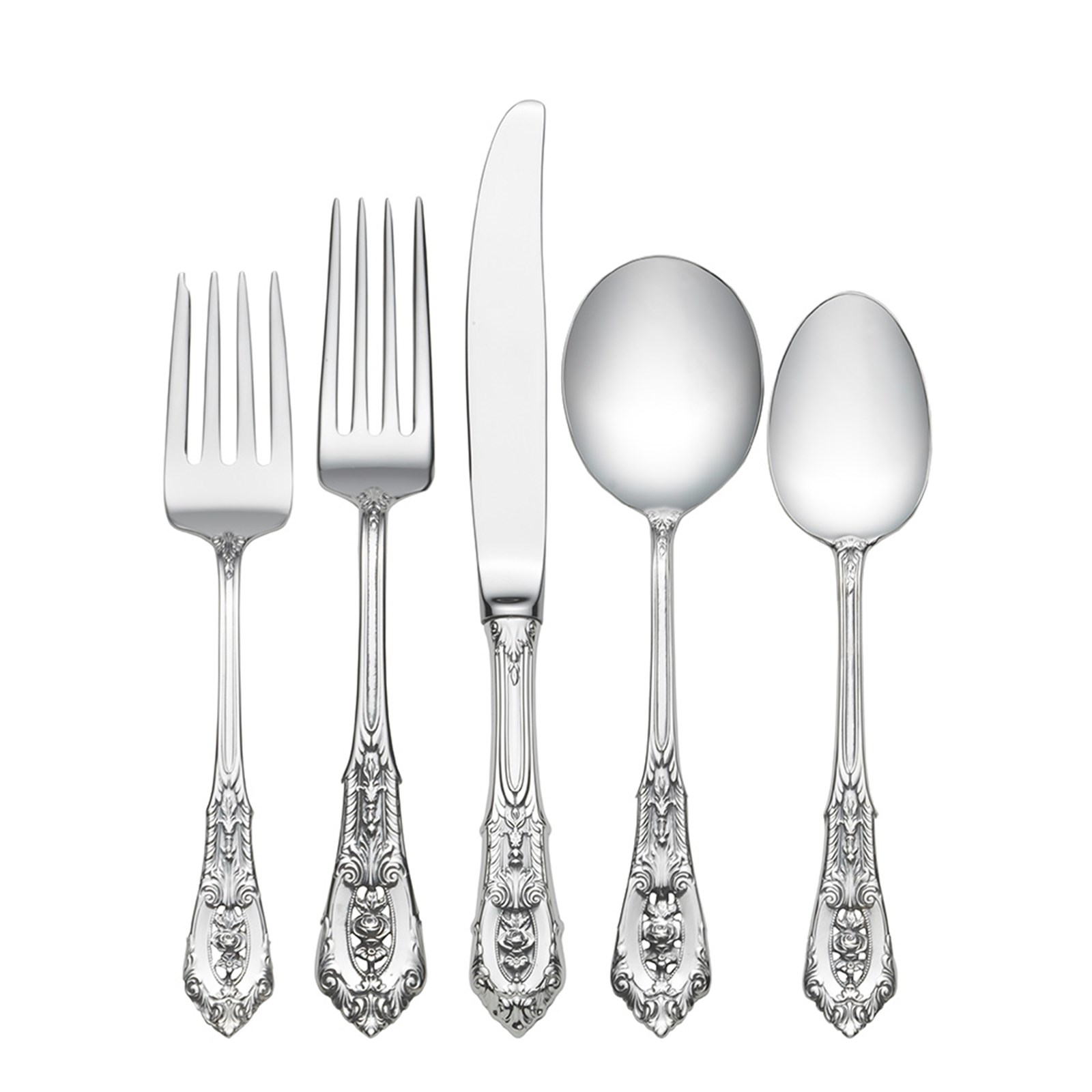 Rose Point by Wallace Sterling Silver Salad Set Custom Made