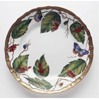 Anna Weatherley Wildberry Red Charger / Presentation Plate