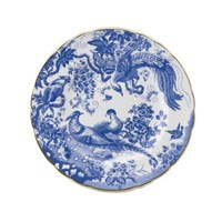 Royal Crown Derby Blue Aves Salad / Dessert Plate