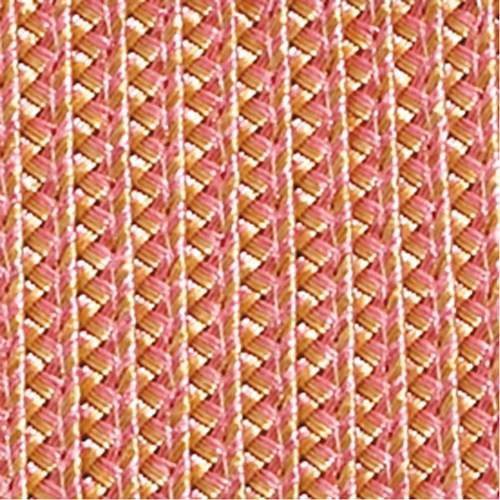 Oval Scalloped Braided Placemat, Gold & Pink