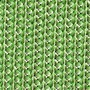 Oval Scalloped Braided Placemat, Sherbet & Mint