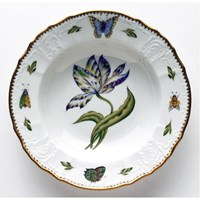Anna Weatherley Old Master Tulips Rim Soup Bowl, Yellow, Green, Purple, & Blue