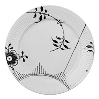 Royal Copenhagen Black Fluted Mega Lunch / Dessert Plate #2